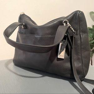 Rolfs Pebble Leather Satchel Crossbody Bag